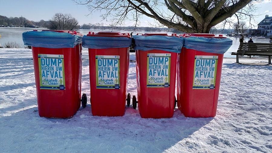 Extra vuilcontainers ijspret Bergse Plassen 2021