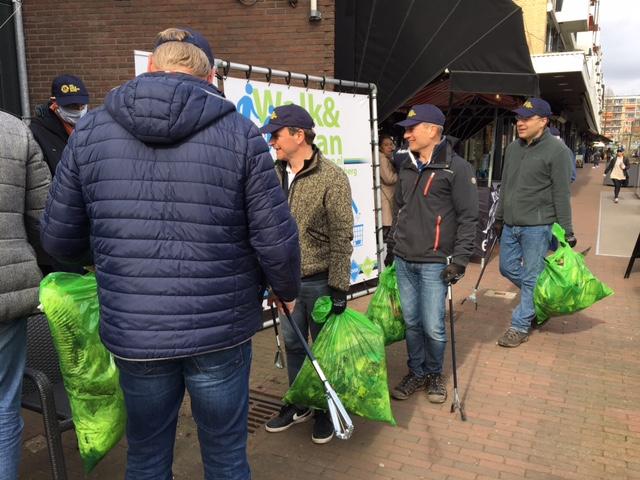 732 KG aan Zwerfafval ingezameld door acht Rotterdamse Lionsclubs in Rotterdam.